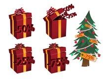 3d每年圣诞节贴现销售额冬天 免版税图库摄影