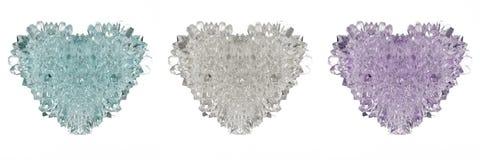 3D水晶心脏 免版税库存图片