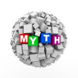 3d求箱子球形球-神话的立方 免版税库存照片