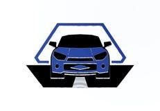 3D汽车商标 免版税库存图片