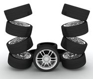 3d汽车图标体育运动轮子 有lcd屏幕的概念design.futuristic注射器 库存图片