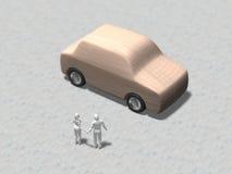 3D汽车的例证 库存例证