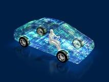 3D汽车的演变的例证 向量例证