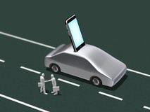 3D汽车移动通信的例证 向量例证
