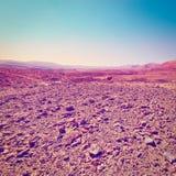 3d沙漠例证日落 库存照片