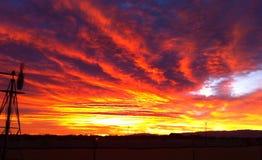 3d沙漠横向日出 库存图片