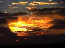 3d沙漠横向日出 库存照片