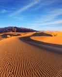 3d沙漠横向日出 免版税库存照片