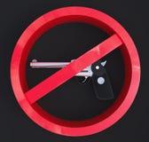 3d没有枪概念 免版税库存照片