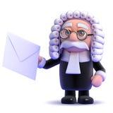 3d法官lettter 免版税库存照片
