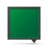 3D泡影谈话黑板。 免版税库存图片