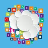 3d泡影集合演讲向量 免版税库存照片
