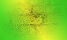3 D浅绿色和黄色纹理摘要被遮蔽的波浪迷离背景模板墙纸 免版税库存图片