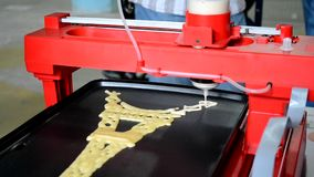 3d液体测试的打印机 股票视频