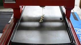 3d液体面团的打印机 股票录像