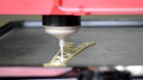 3d液体面团的打印机 股票视频
