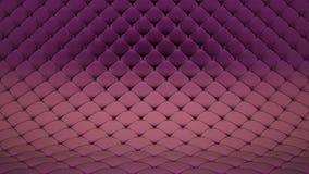 3D淡粉红的缝制的表面的动画与紫色发光的皮带的 现实动画优质 r 影视素材