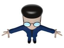 3D漫画人物潜水 库存例证