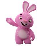 3D漫画人物,复活节兔子 免版税库存图片