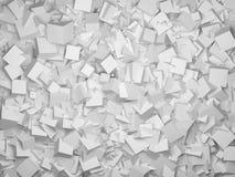 从3d灰色立方体的抽象几何形状 库存照片