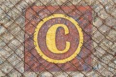 3d版权例证回报了符号 免版税库存照片