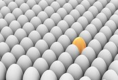 3d独特的金黄鸡蛋 免版税库存照片