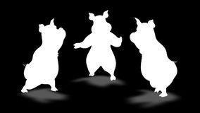 3D猪舞蹈阿尔法圈 向量例证