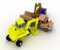 3d玩具汽车的例证男孩的 免版税库存照片