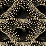 3d现代抽象传染媒介无缝的样式 库存例证