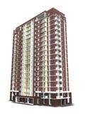 3d现代多层的居民住房翻译  皇族释放例证