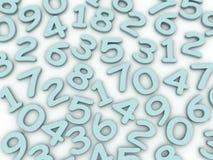 3d现代字母表数字颜色样式 免版税图库摄影