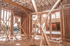 3d现代抽象楼房建筑的框架回报形状 库存图片