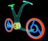 3d现代自行车概念 库存照片