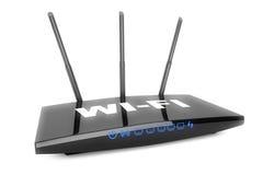 3d现代WiFi路由器 库存图片