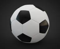 3d球回报足球 免版税库存图片