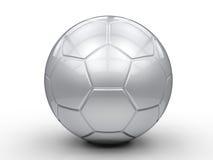 3d球图象查出的银色足球白色 免版税库存照片