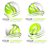 3D球形商标 免版税库存照片