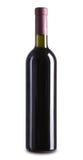 3d瓶高例证图象红色解决方法酒 库存图片