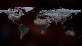 3d生成了地球例证图象多数美国航空航天局零件行星翻译 您能看到大陆,城市 美国航空航天局装备的这个图象的元素 图库摄影