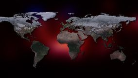 3d生成了地球例证图象多数美国航空航天局零件行星翻译 您能看到大陆,城市 美国航空航天局装备的这个图象的元素 库存图片