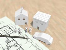 3D生活计划的例证 皇族释放例证