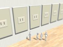 3D电力消费的例证 库存例证