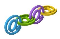 3D电子邮件标志消息链子 免版税图库摄影