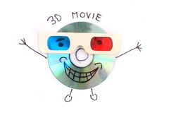 3D电影DVD 图库摄影