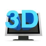 3D电视 图库摄影
