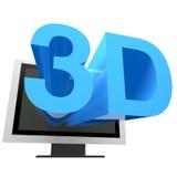 3D电视 免版税图库摄影