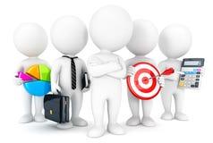 3d白人企业概念 免版税库存照片
