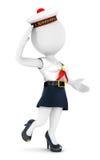 3d白人妇女水手 免版税库存照片
