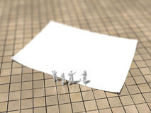3D白皮书的例证 库存例证