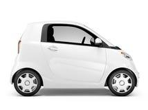 3D白色微型汽车侧视图  免版税库存照片